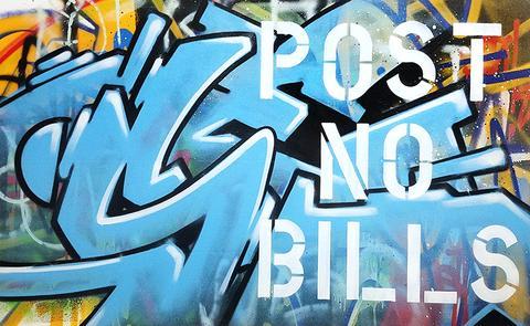 Seen Post no bills toile