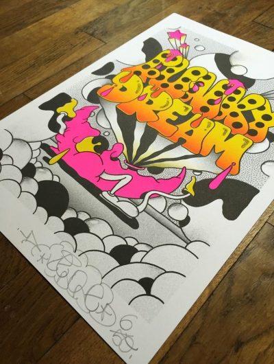 keno pal serigraphie funky dream
