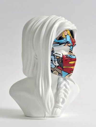 sculpture sandra chevrier original white face