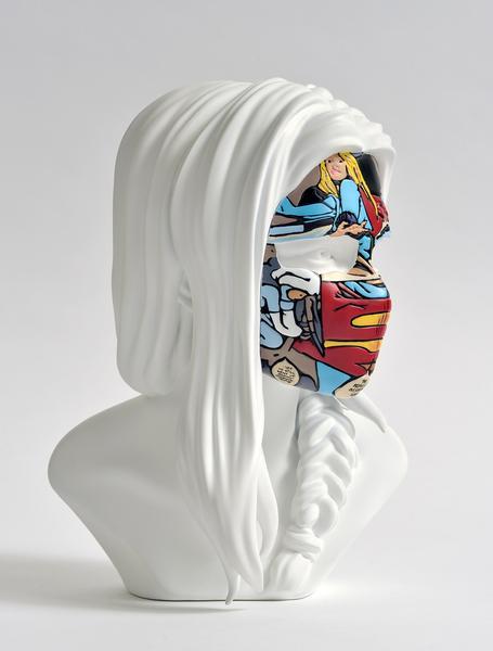 sculpture sandra chevrier original white face