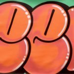seen orange bubble graffiti flop 80s toile
