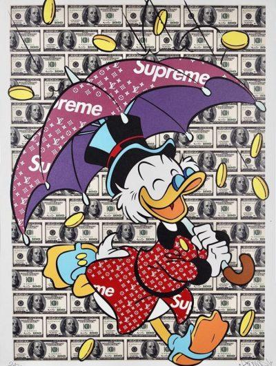 Édition money rain de l'artiste Gomor